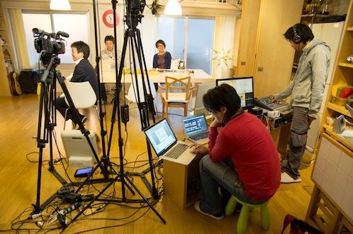 インタビュー後、シェアリビングでは小和田さんがプロデュースする「Zonostyle Creation Hack TV」の収録が行われた。