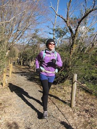 トレイルランニングを楽しむ西田さん。