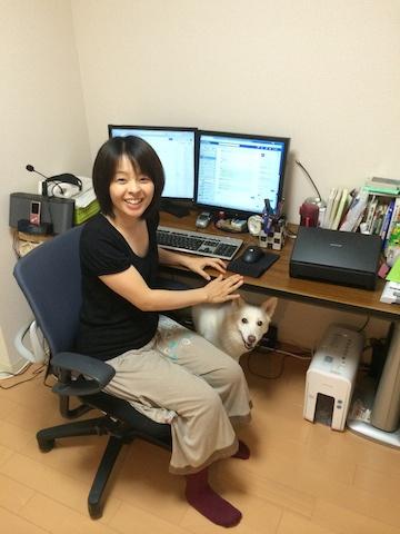 加藤さんの自宅の仕事スペース