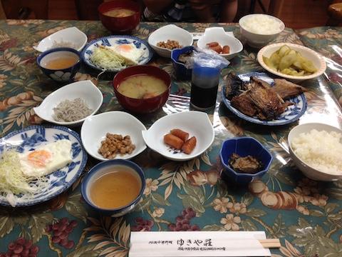ゆきや荘の朝食