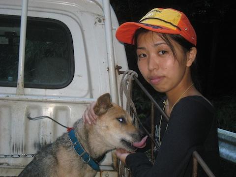 乃一さんと狩猟犬