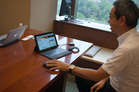 龍太さんが仕事で使っているパソコン