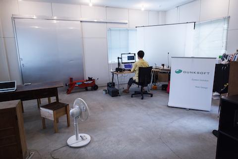 本橋さんの仕事スペース