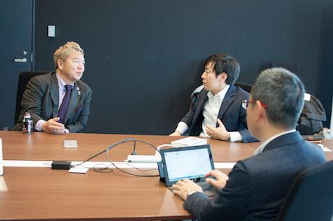 星野さん、青野さん、龍太さんによる対談の様子