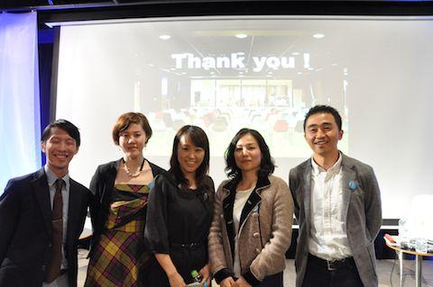 左から磯辺さん(Idea talk)、星さん、金丸さん、河内さん、高島和彦さん(日本財団)