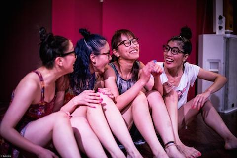 先輩らと結成したチーム「TABATHA」の舞台(撮影:bozzo)