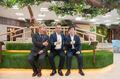 ダンクソフト社長 星野晃一郎さん、中村龍太さん、サイボウズ社長 青野慶久さん