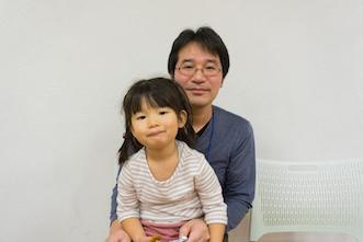 西村祐貴さんとお嬢さん