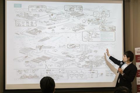 イベントでecommitのビジョンについて説明する嶋田さん