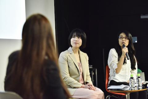 右から、株式会社メルカリ 手代さやかさん、サイボウズ株式会社 渡辺清美さん