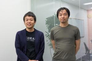 コデアル株式会社 CEOの愛宕翔太さんと、コデアルを利用して副業をしているエンジニアの吉川利幸さん